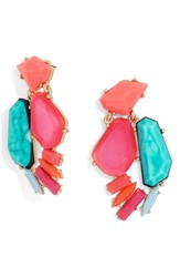 Baublebar Women's 'Flo' Crystal Drop Earrings Pink
