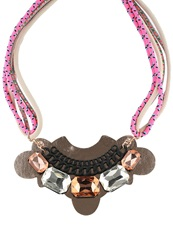Evenandodd Necklace Pink Multi Color