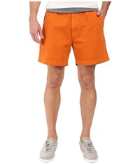 Vintage 1946 Garment Dyed Pull On Shorts Texas Orange Men's Shorts Brown