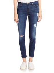 7 For All Mankind B Air Denim Ankle Skinny Distressed Jeans B Air Duchess