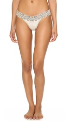 Hanky Panky Heather Jersey Low Rise Thong Ivory Coal