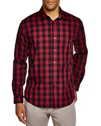 Sovereign Code Hamstead Check Regular Fit Button Down Shirt Red Black Check