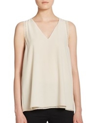 Cooper And Ella Gisella Metallic Dot Tank Top Ivory Gold
