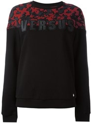 Versus Logo Applique Sweatshirt Black