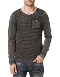 Buffalo David Bitton Witty Knit Tee Charcoal