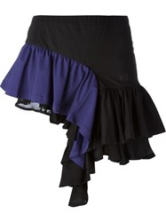 Y 3 Ruffle Hem Asymmetric Skirt Black