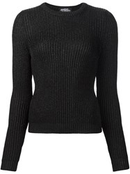 Jeremy Scott Ribbed Fitted Jumper Black