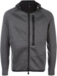 Moncler Grenoble Fitted Hooded Jacket Grey
