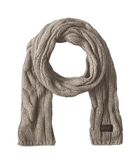 Original Penguin Cable Knit Scarf Silver Grey Scarves Gray