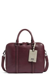 Ted Baker Men's London 'Dice' Leather Briefcase Red Oxblood