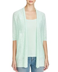 Eileen Fisher Petites Elbow Sleeve Cardigan Green Mint