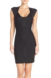 Women's French Connection 'Danni' Metallic Knit Bandage Dress