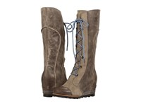 Sorel Cate The Great Wedge Pebble Women's Dress Boots Beige