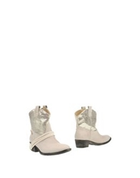 Braccialini Ankle Boots Light Grey