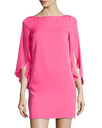 Milly Butterfly Sleeve Shift Dress Fluorescent Pink