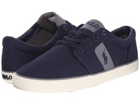 Polo Ralph Lauren Halmore Newport Navy Canvas Pu Men's Lace Up Casual Shoes Blue