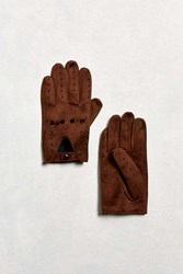 Urban Outfitters Faux Suede Driving Glove Brown