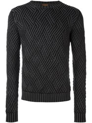 Tod's Diamond Knit Sweater Grey