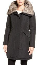 Vince Camuto Women's Faux Fur Trim Hooded Down And Feather Parka