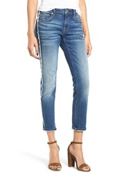 Vigoss Women's Thompson Frayed Crop Tomboy Jeans
