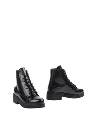 F Troupe Ankle Boots Black