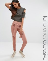 One Day Tall Legging With Wrap Front Detail Tan