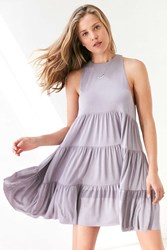 Silence And Noise Lidia Tiered Knit Mini Dress Lavender