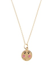 Alison Lou Enamel And Yellow Gold Bashful Face Necklace