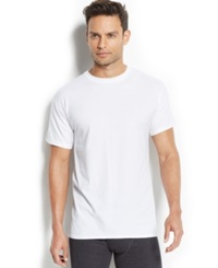 Hanes Men's X Temp Crew Neck T Shirt 4 Pack White