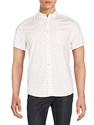 Life After Denim Lotus Casual Button Down Shirt Red Light