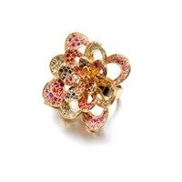 Madhuri Parson Multicolored Sapphires And Yellow Gold Peacock Ring