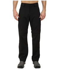 Jack Wolfskin Activate Zip Off Pants Black Men's Casual Pants