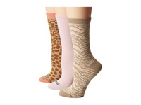 Sperry Animal Novelty Crew 3 Pack Autumn Blonde Women's Crew Cut Socks Shoes Multi