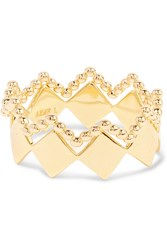 Arme De L'amour Set Of Two Crown Gold Plated Rings
