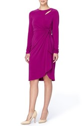 Catherine Malandrino Women's 'Gordon' Faux Wrap Sheath Dress Morgan Purple