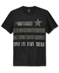 Inc International Concepts Faux Leather Flag T Shirt Only At Macy's Deep Black
