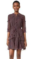 Saloni Tilly Ruffle Silk Dress