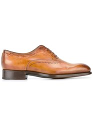 Santoni Goodyear Sole Oxford Shoes Brown