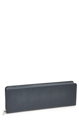Saffiano Leather Accessory Case Blue