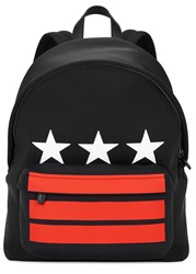 Givenchy Black Star Print Neoprene Backpack