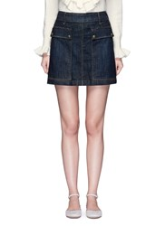 Frame Denim 'Le Mini' Pocket A Line Skirt Blue