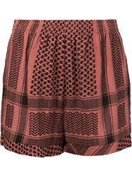 Cecilie Copenhagen Woven Shorts Red