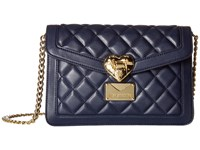 Love Moschino Quilted Envelope Crossbody Navy Cross Body Handbags