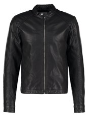 Jack And Jones Jororiginal Faux Leather Jacket Black