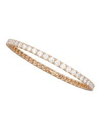64Mm Rose Gold Diamond Eternity Bangle 11.5Ct Roberto Coin Pink