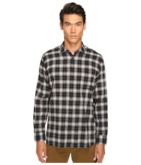 Billy Reid John T Plaid Button Up Black Grey Men's Long Sleeve Button Up