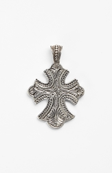 Konstantino 'Classics' Cross Pendant Necklace Silver