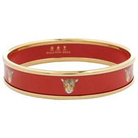 Halcyon Days 18Ct Gold Plated Leopard Head Bangle Small Red