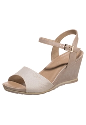 S.Oliver Wedge Sandals Taupe Pepper Grey