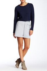 Romeo And Juliet Couture Scuba Mini Skirt Gray
